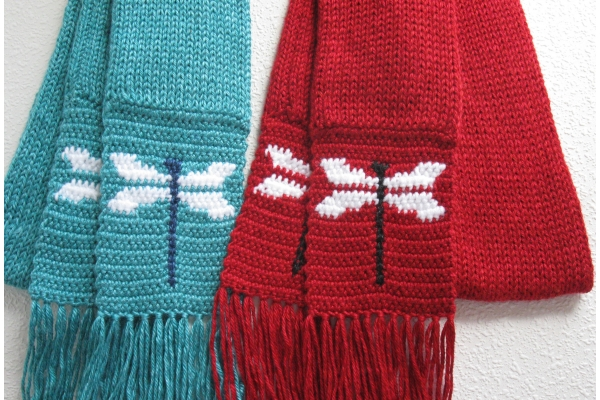 dragonfly scarves