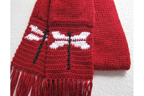 dragonfly knit scarf