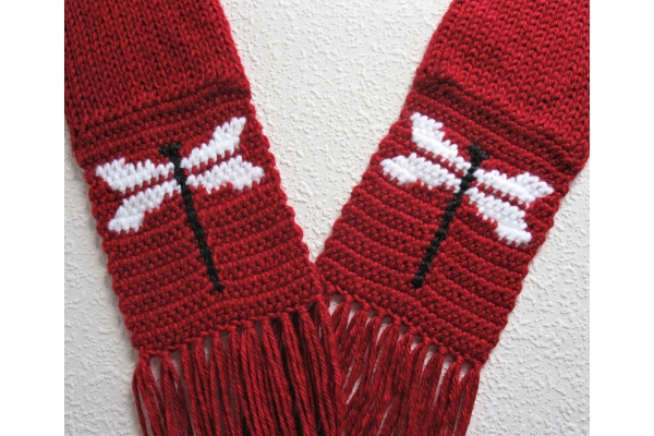 red dragonfly scarf