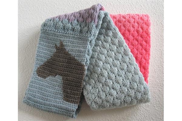 knit tuck stitch scarf