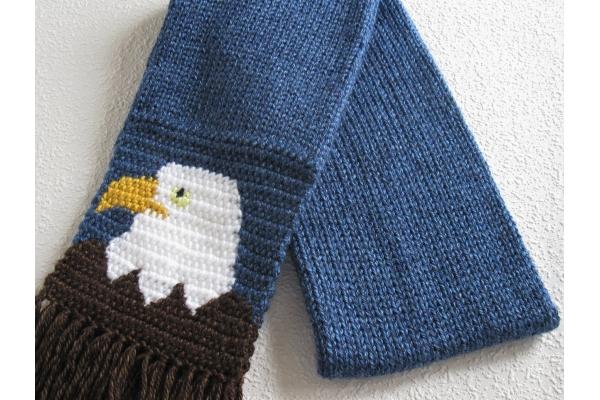 folded eagle scarf