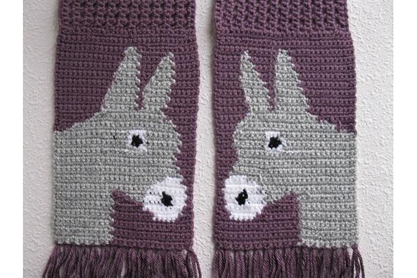 back side of donkey scarf