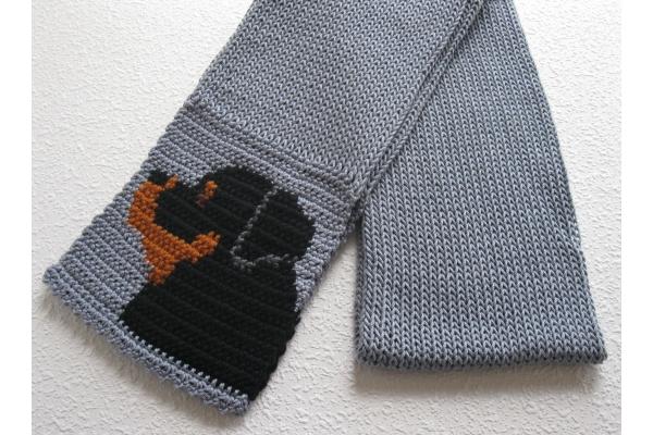 folded rottweiler scarf