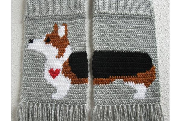 corgi dog scarf