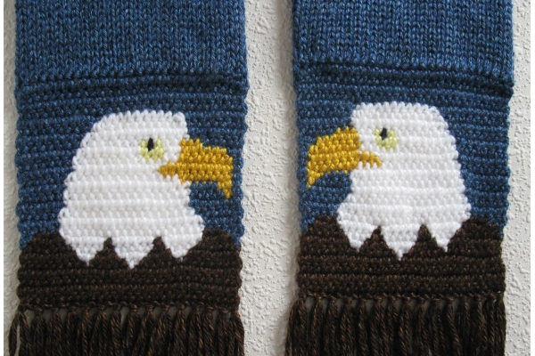 royal blue scarf with eagles