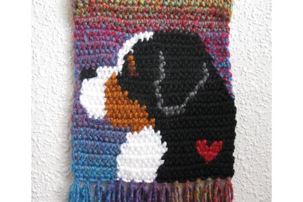 knit mountain dog