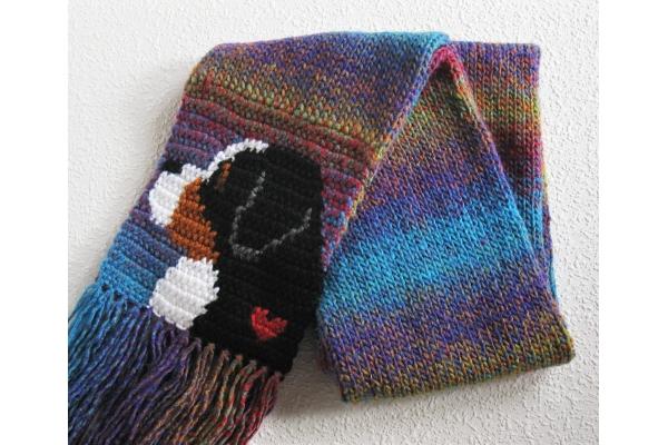 folded dog scarf
