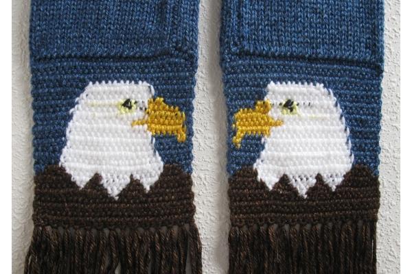back side of eagle scarf