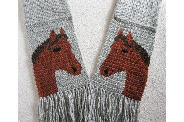 sorrel horse scarf