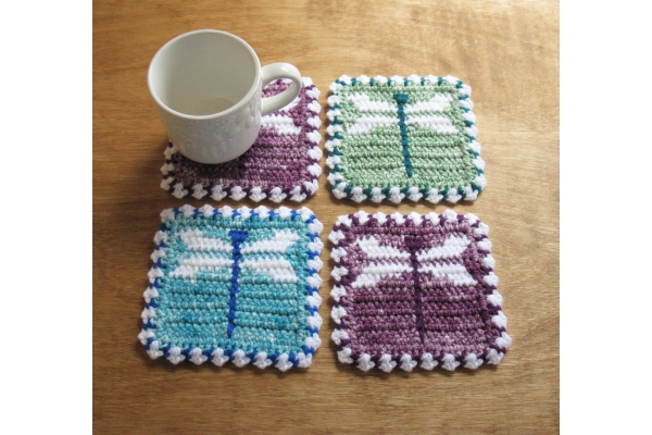 dragonfly mug rugs