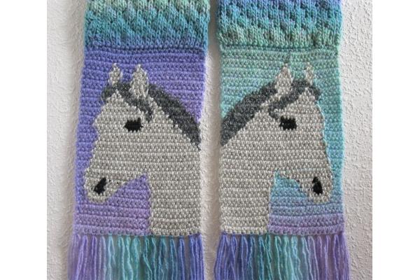 back side of horse scarf