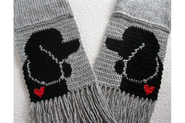 gray poodle scarf