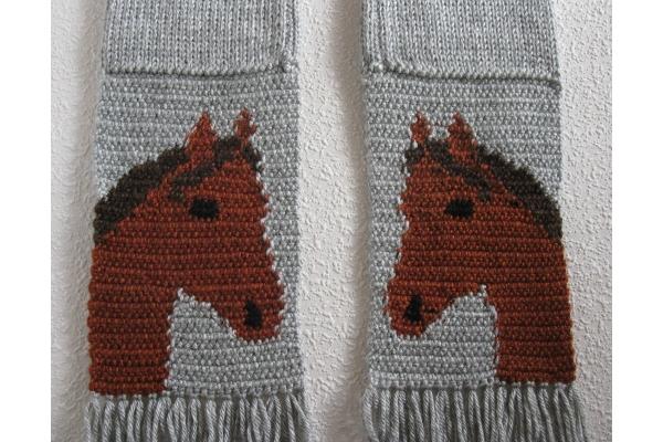 reverse side of horse motif