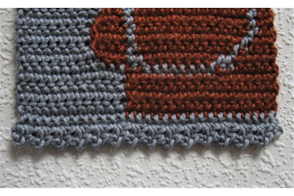 edge of poodle scarf