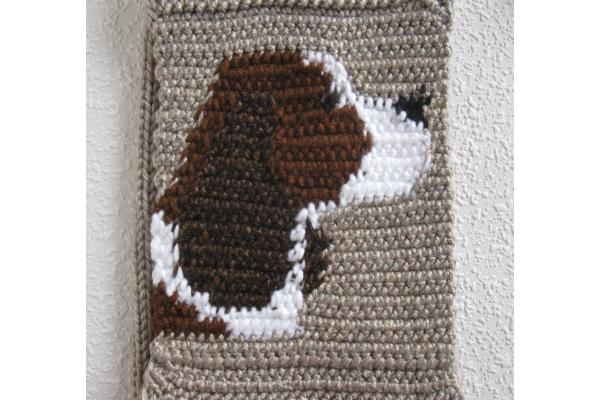 reverse side of scarf