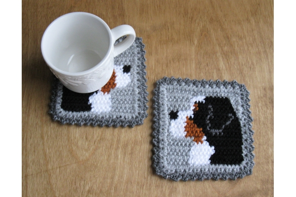 dog cup coasters