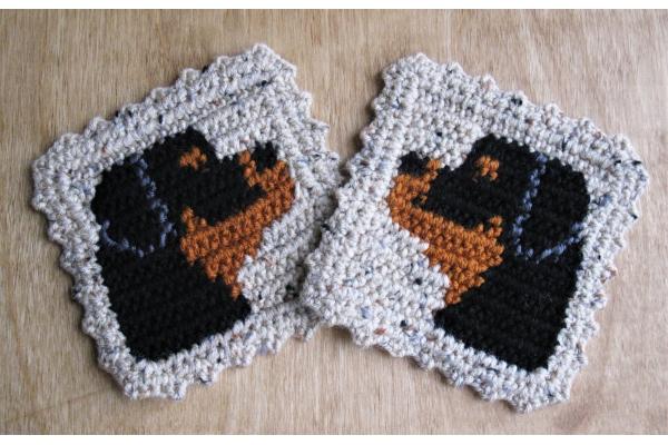 cute rottweiler crochet