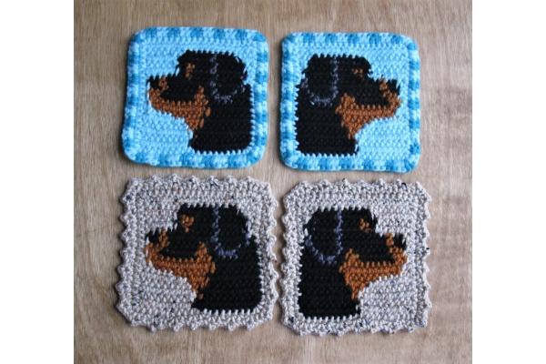 Rottweiler mug rugs