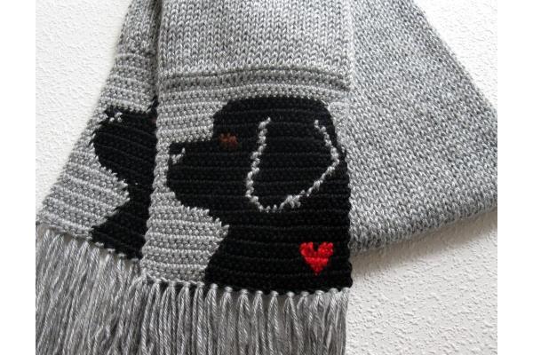 black dog scarf
