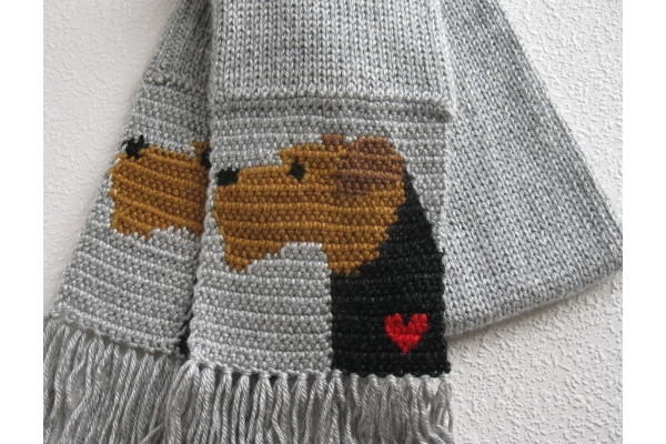 welsh terrier scarf