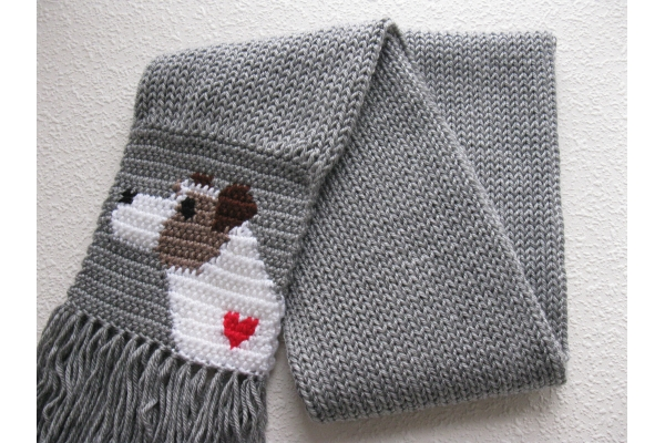 jack russell scarf full view