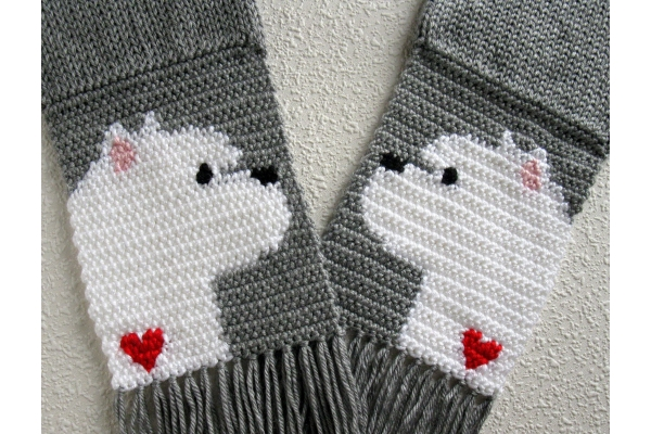 Westie terrier scarf