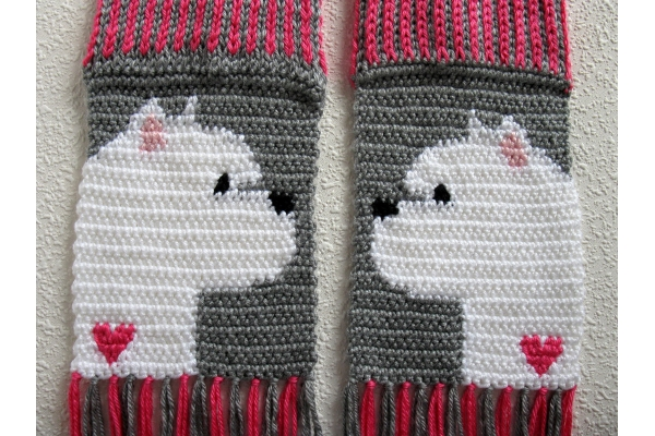 westie and hearts