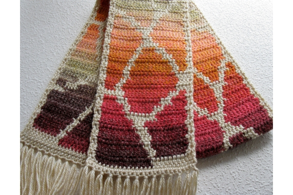 ombre giraffe scarf