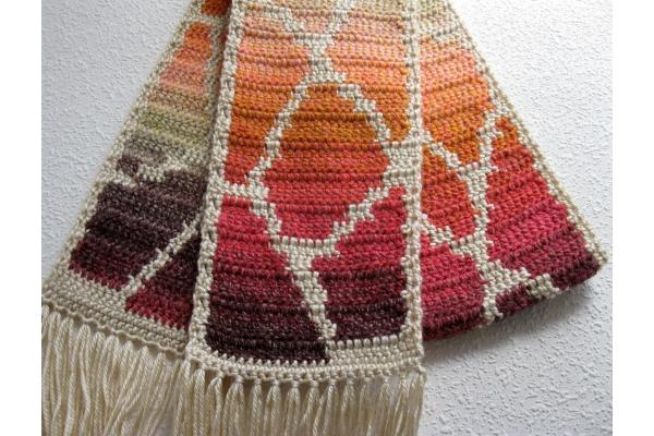 Giraffe print scarf by Lisa McDonald