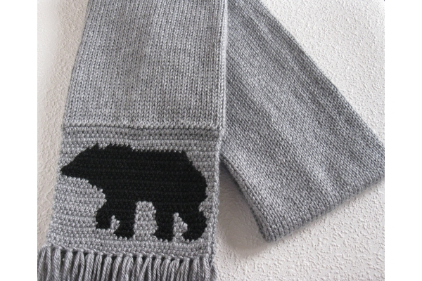 folded bear scarf