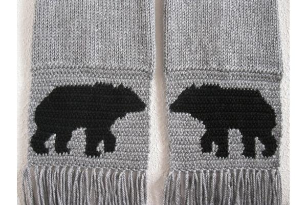 crochet bear scarf