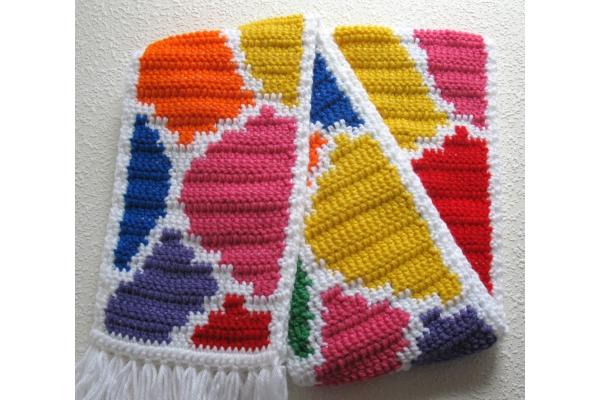 colorful giraffe scarf