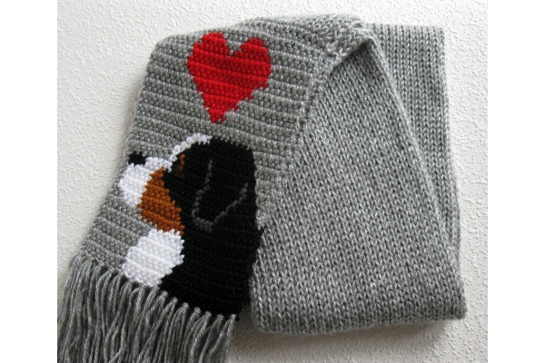 dog scarf full view