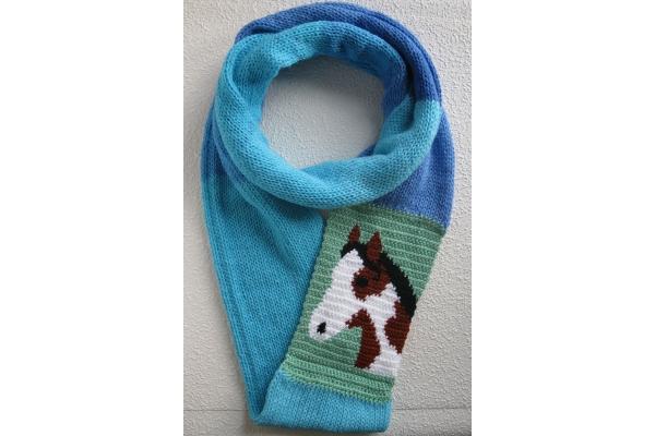 pinto horse scarf