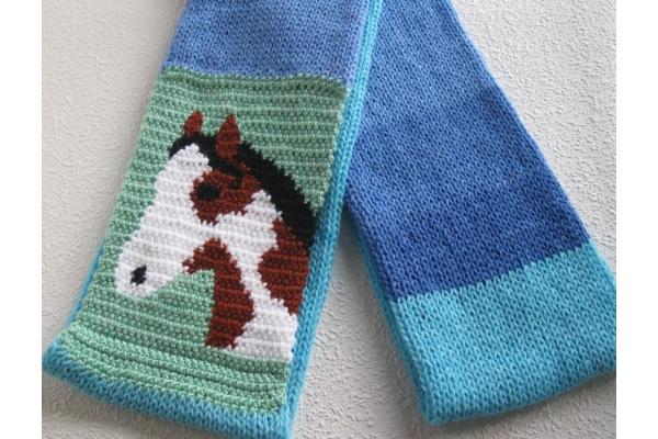 folded horse scarf
