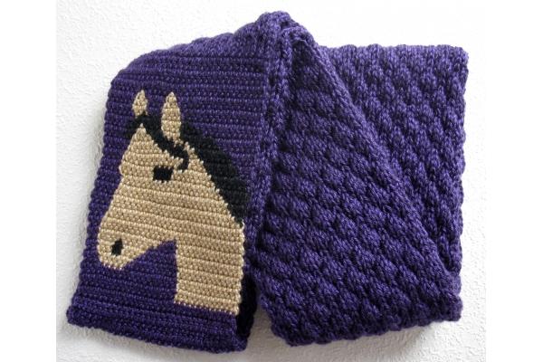 ultraviolet knit scarf