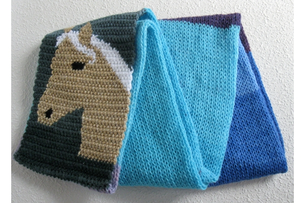 full view horse scarf
