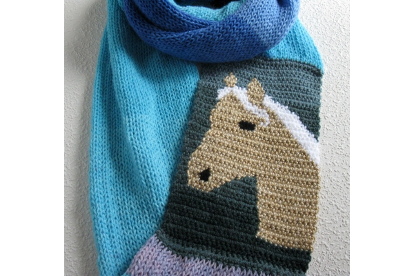 scarf with horse