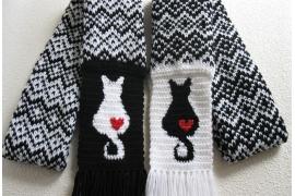 Fair isle scarves