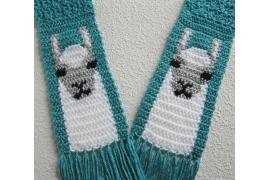 cute llama scarf