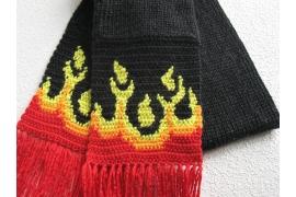 black flame scarf