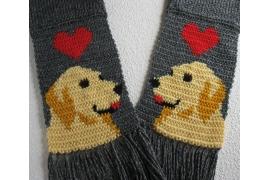 Golden retriever scarf