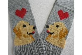 gray dog scarf