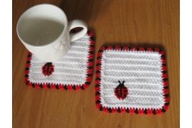 ladybug coasters