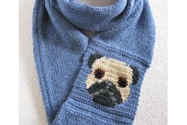 pug infinity scarf