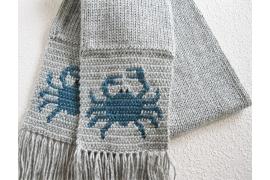 blue crab scarf
