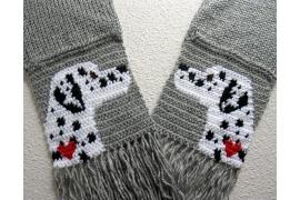 Dalmatian dog scarf