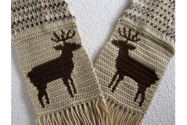 fair isle deer scarf