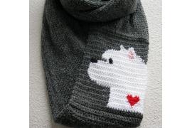 Westie scarf