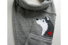 Husky infinity scarf